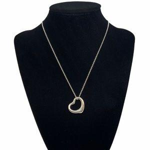 "Tiffany & Co. 22mm Open Heart Pendant Necklace 16"""